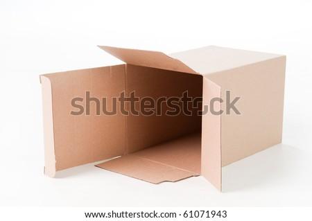 boxes isolate - stock photo