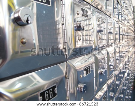 boxes of letters - stock photo