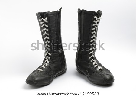 Boxing boots, isolated - stock photo