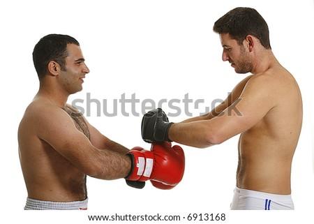 boxing combat - stock photo
