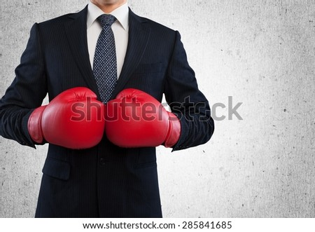Boxing, fist, knockout. - stock photo