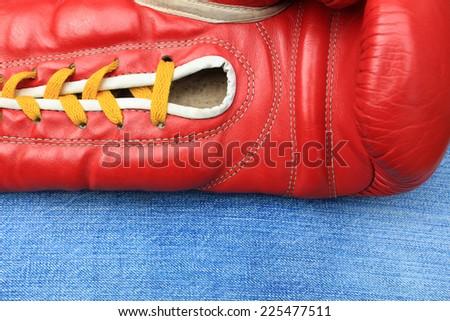 Boxing glove - stock photo