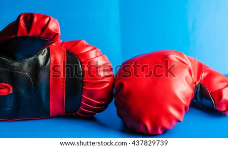 boxing glove - stock photo