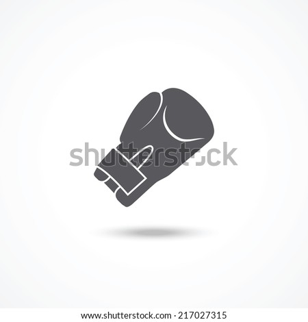 Boxing glove icon - stock photo