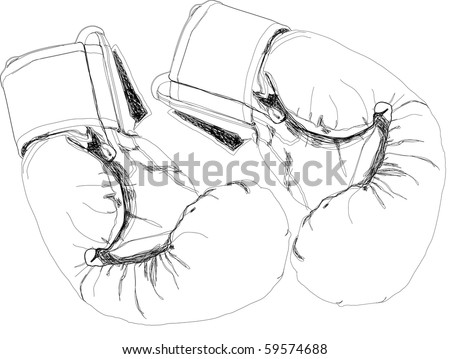 Boxing gloves. - stock photo