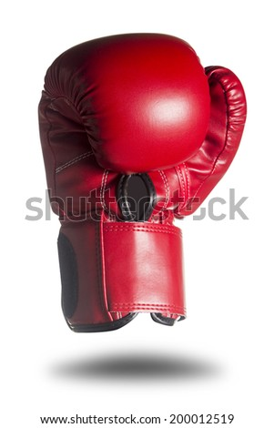 Boxing gloves isolated on white background, Objects with clipping paths for design work - stock photo