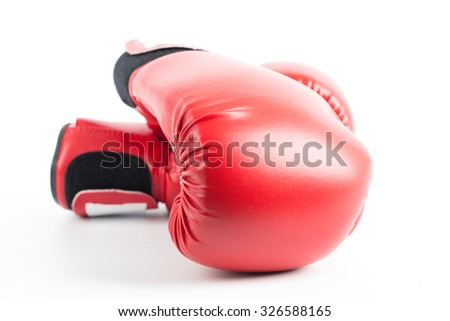 Boxing gloves isolated with white background. - stock photo