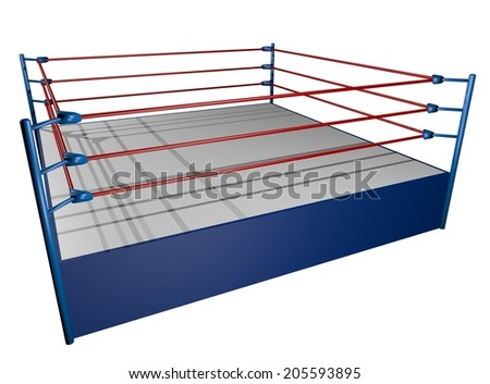 Boxing render arena - stock photo
