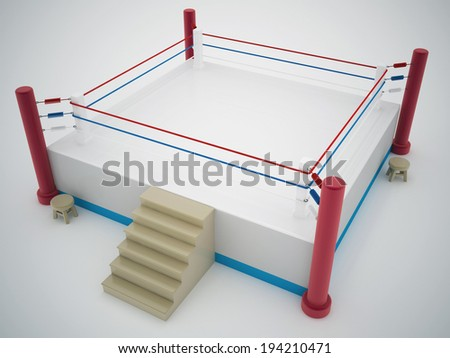 boxing ring - stock photo