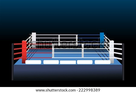 Boxing ring.