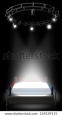 Boxing ring. High resolution 3d render - stock photo