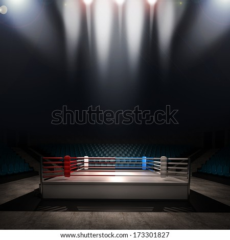 Boxing Ring High Resolution 3d Render