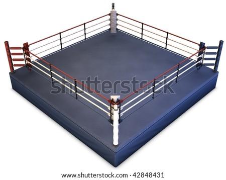 Boxing Ring Render - stock photo