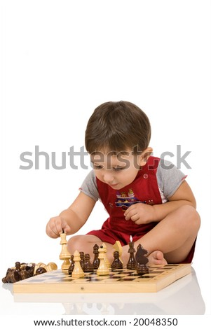 boy and chess
