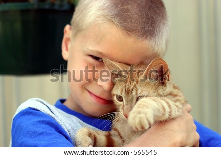 Boy and Furry Friend