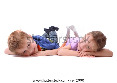 boy and girl - stock photo