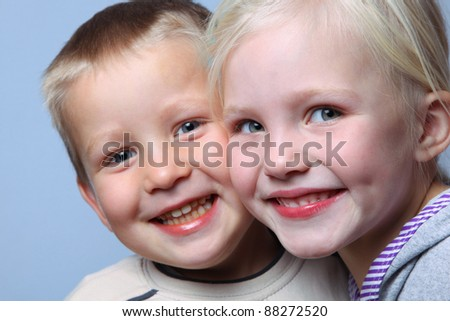boy and girl looking together