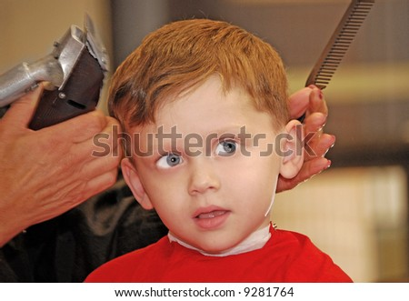 Boy at Barber