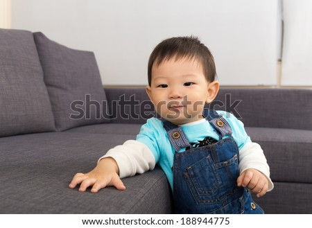 Boy at home - stock photo