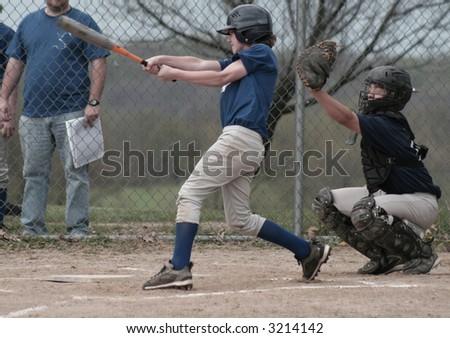 Boy Batting 1 - stock photo