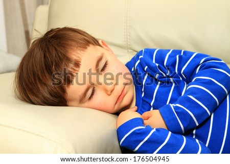 boy child sleeping - stock photo