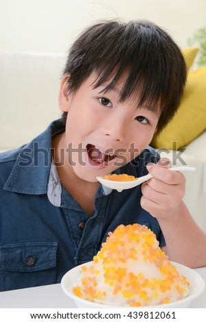 boy eating ice