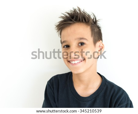Boy face - stock photo