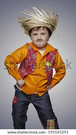 Boy for June festival - stock photo