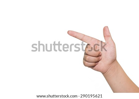 boy hand pointing finger