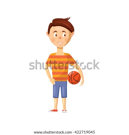 Boy icon - stock photo