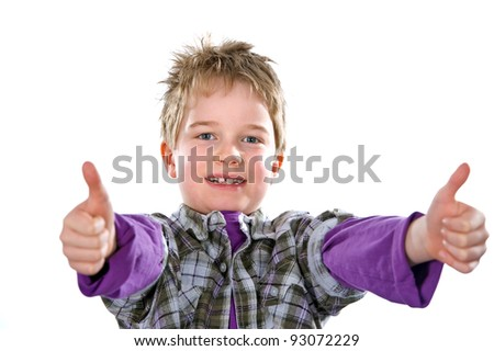 boy is to be in a good humor - stock photo