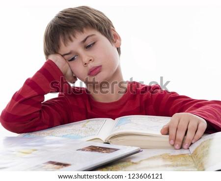 boy learning, - stock photo