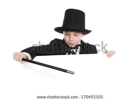 Boy Magician - stock photo