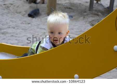 Boy on a slide