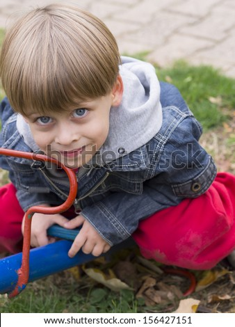 boy on the playground,