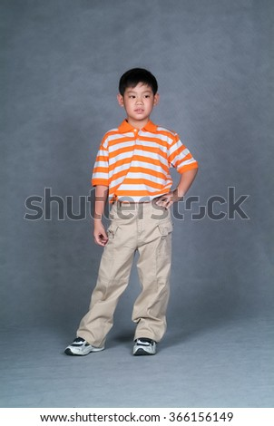 boy or boy thinking on the background - stock photo