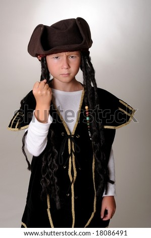 Boy Pirate isolated on gray