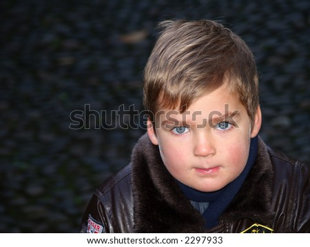 boy portrait - stock photo