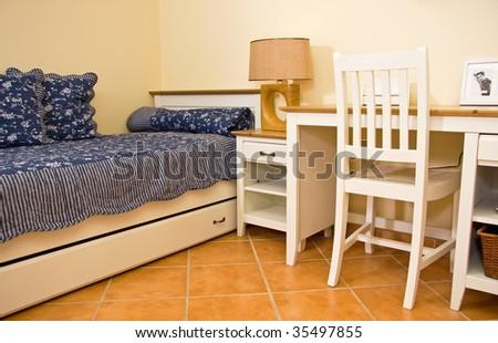 Boy room interior - stock photo