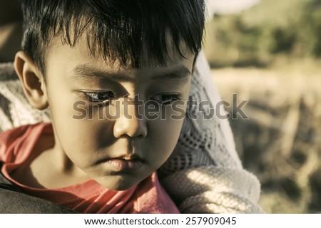 Boy, sad - stock photo