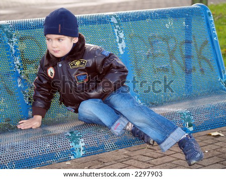 boy siting - stock photo