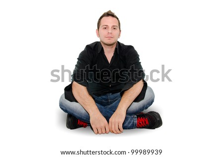 boy sitting - stock photo