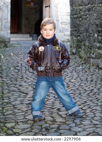 boy standing - stock photo