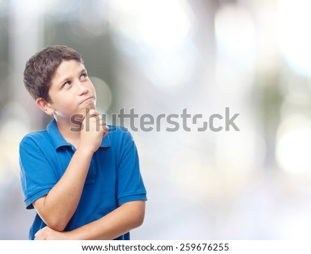 boy thoughtful abstract backgrounds - stock photo