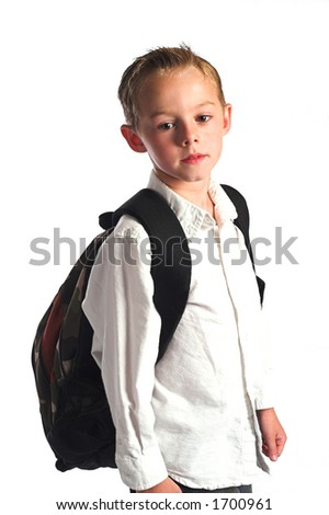 boy wearing a backpack