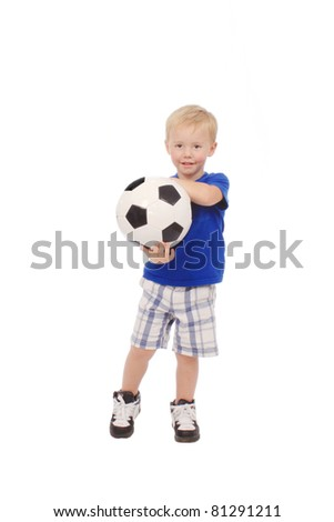 Boy with a soccer ball
