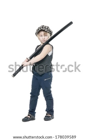 Boy with a sword - stock photo