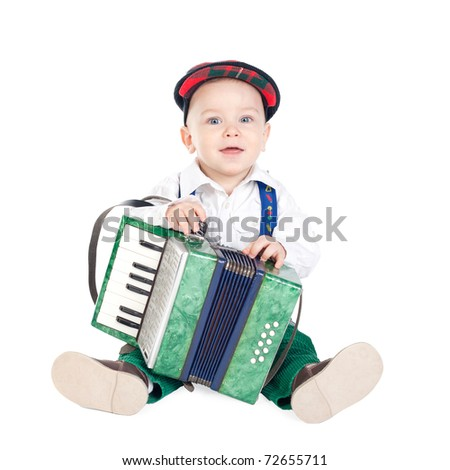 boy with an accordion