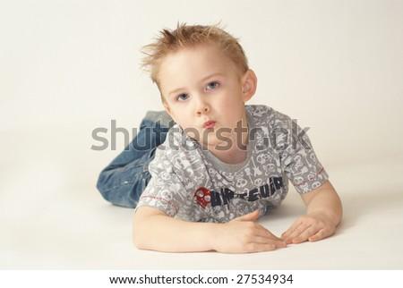 Boy with attitude - stock photo