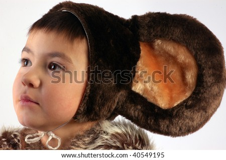 boy with ears - stock photo